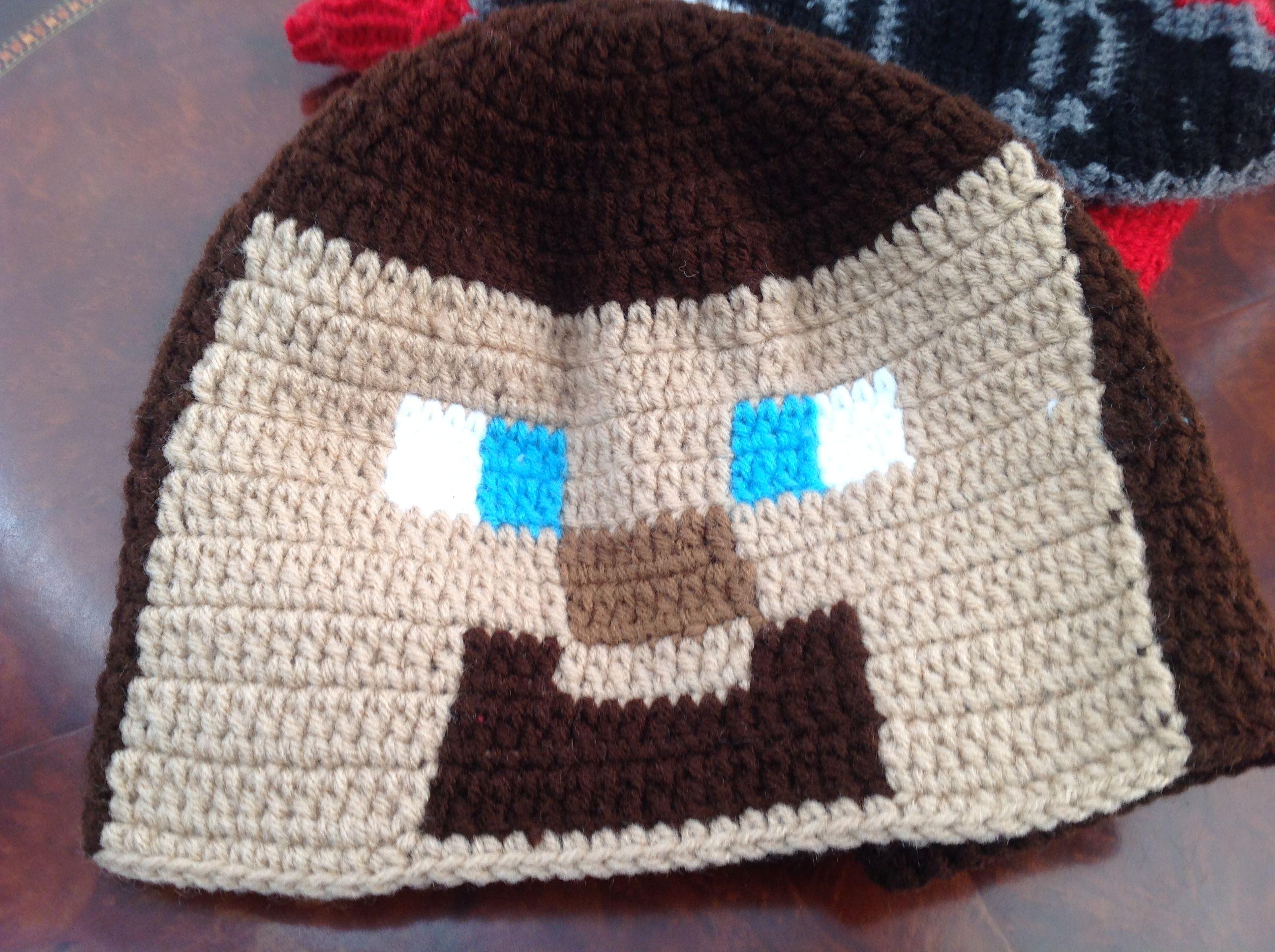 2251c8cf074af Crochet Minecraft Steve Hat