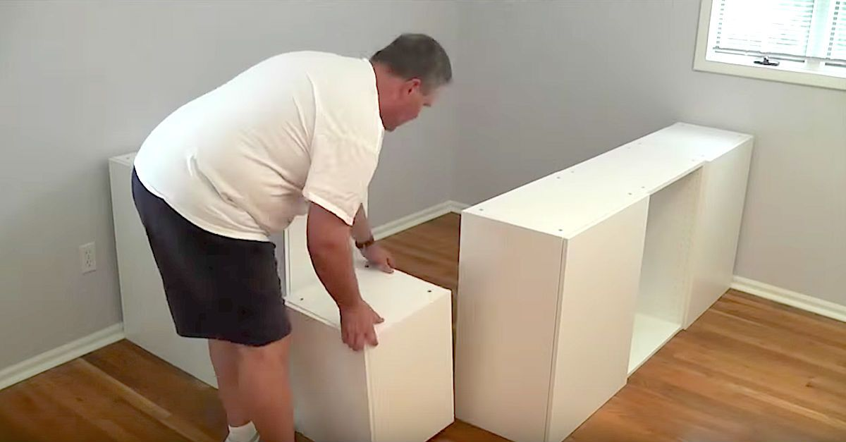 Dad Transforms Ikea Kitchen Cabinets