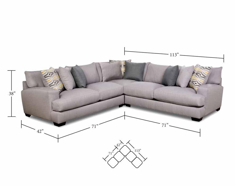 DePalma Gray 3 PC. Sectional Sofa - Sectionals - Living Rooms ...
