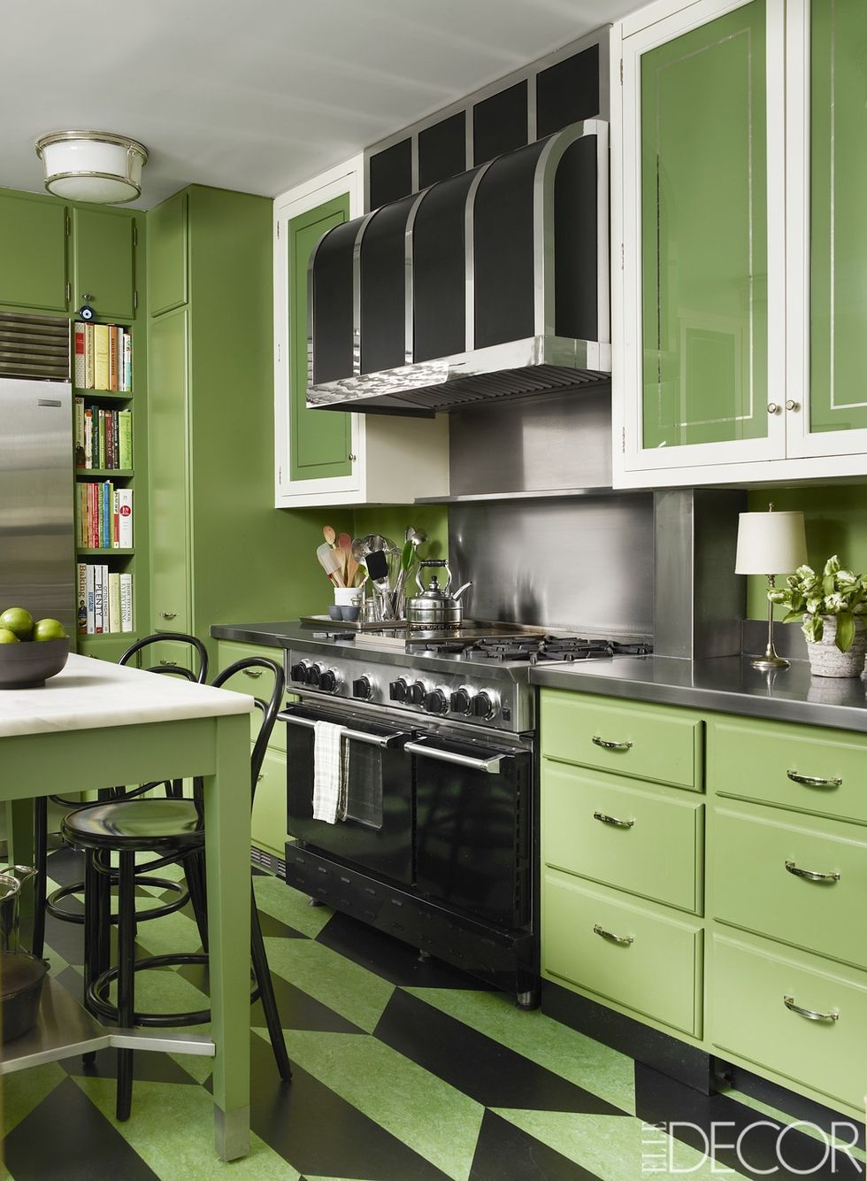 These Small Kitchens Have Major Style That You Re Sure To Love Kitchen Remodel Small Green Kitchen Designs Small Space Kitchen