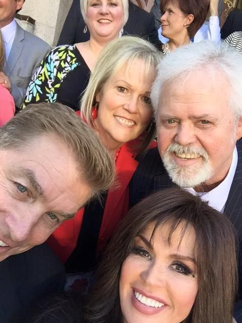Marie, Steve, Merrill, Mary on Jay & Karen's sealing day. June 2015. Photo by Marie Osmond.