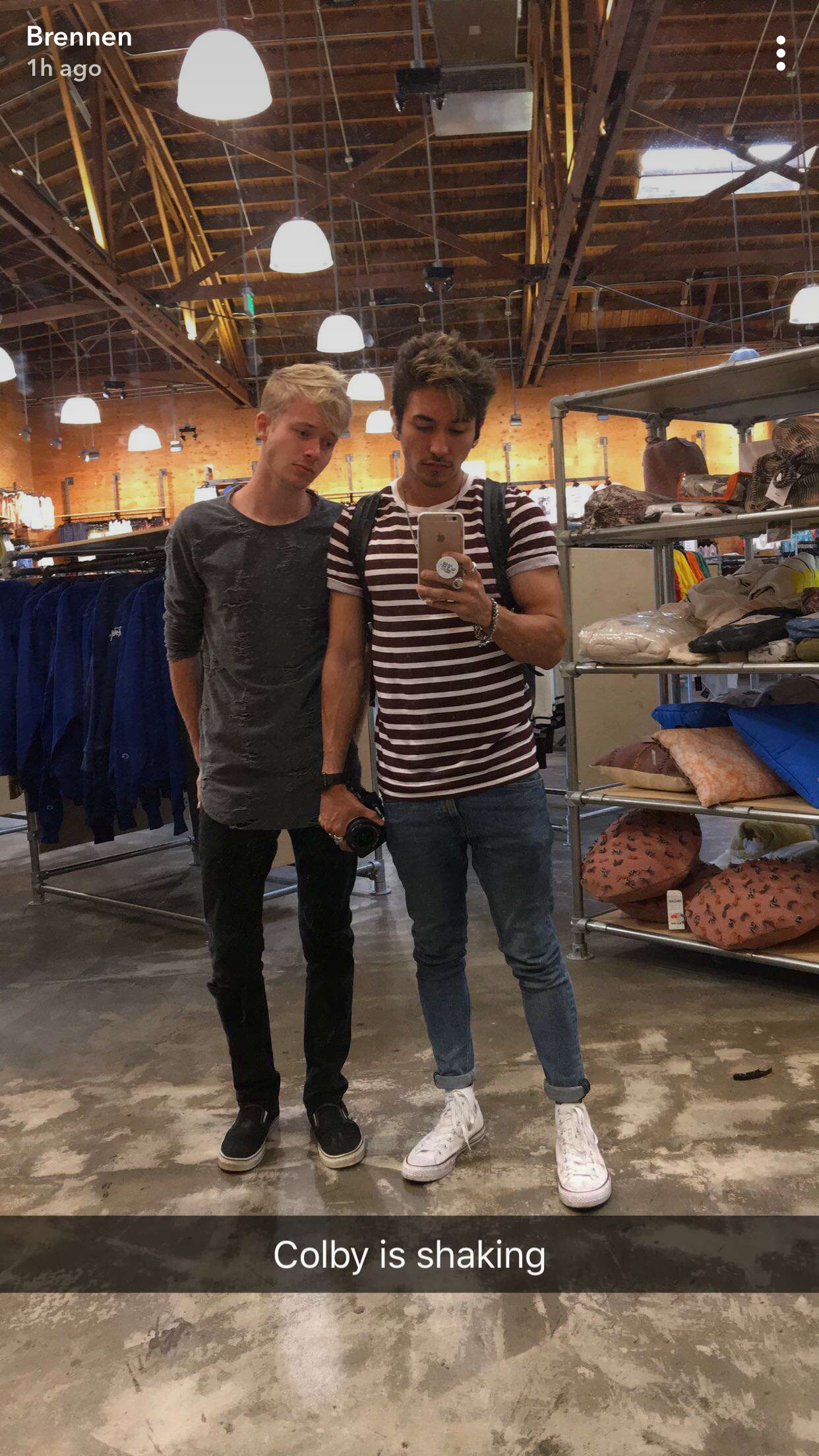 Sam Golbach w/ Brennen Taylor via @brennentaylor (Snapchat ...