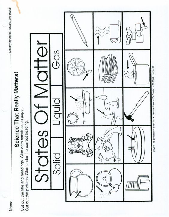 Page 1 States of Matter worksheet make a 3 part foldable solid – Solid Liquid and Gas Worksheets