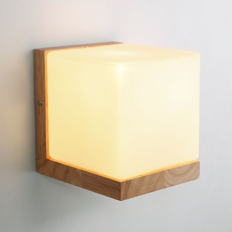 Find More Wall Lamps Information About Modern Oak Wood Cube Sugar Shade Wall Lamp Bedroom Wooden Glass Wall Scon Modern Wall Lamp Bedside Wall Lights Wall Lamp