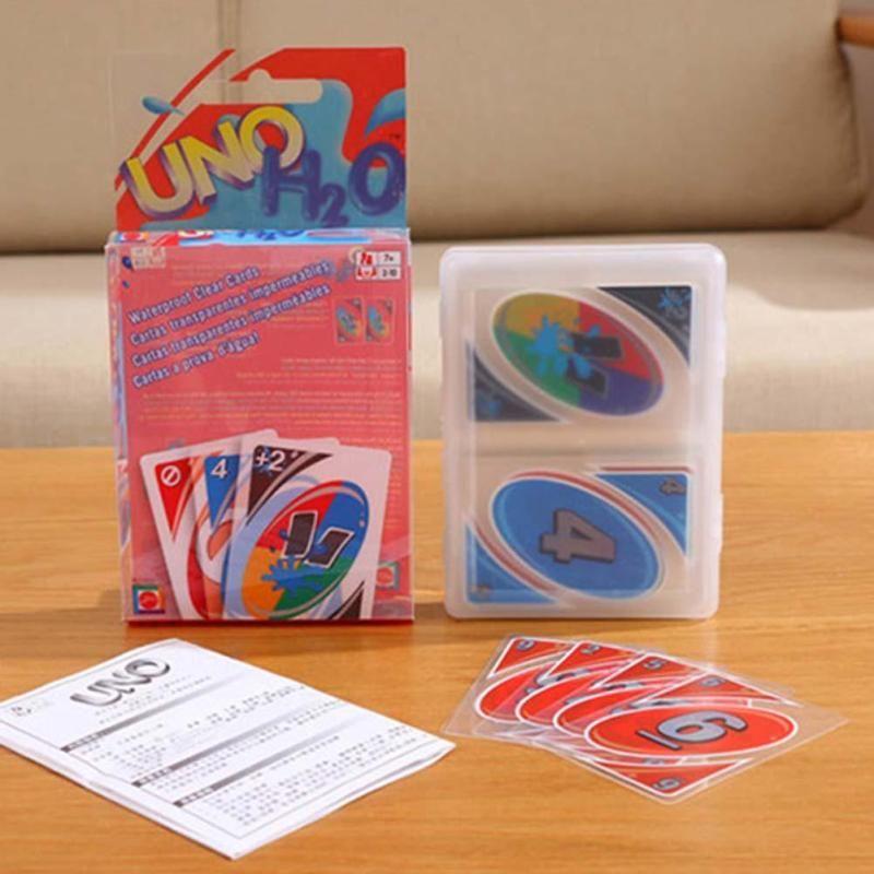 uno jeu de carte Imperméable de luxe En Plastique Plier Version UNO Carte Poker Jeu