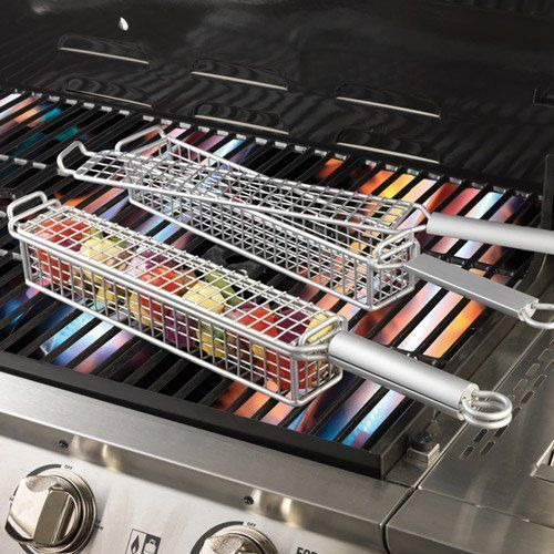 Nonstick Kabob Grill Basket Set Of 2 By Adc Magellan 29 95 These Easy Clean Baskets Are Ideal To Vegetables Seafood
