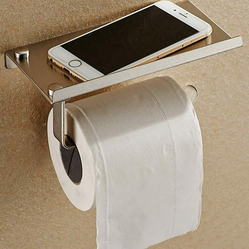 Stainless Steel Toilet Paper Holder With Storage Shelf Unbranded Toilet Paper Holder Tissue Paper Holder Paper Holder