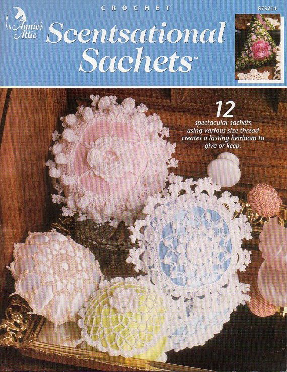 Annies Attic Crochet Sachet Pattern By Colemanvintage On Etsy Ti