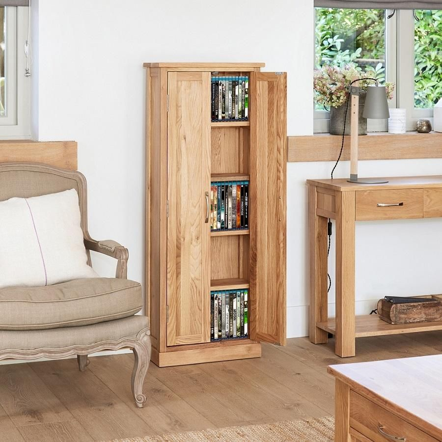 Classic Oak Dvd Storage Cupboard With Images Cupboard Storage