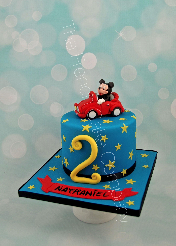 Mickey Mouse 2nd Anniversaire Joyeux Anniversaire 2 Ans Comestibles