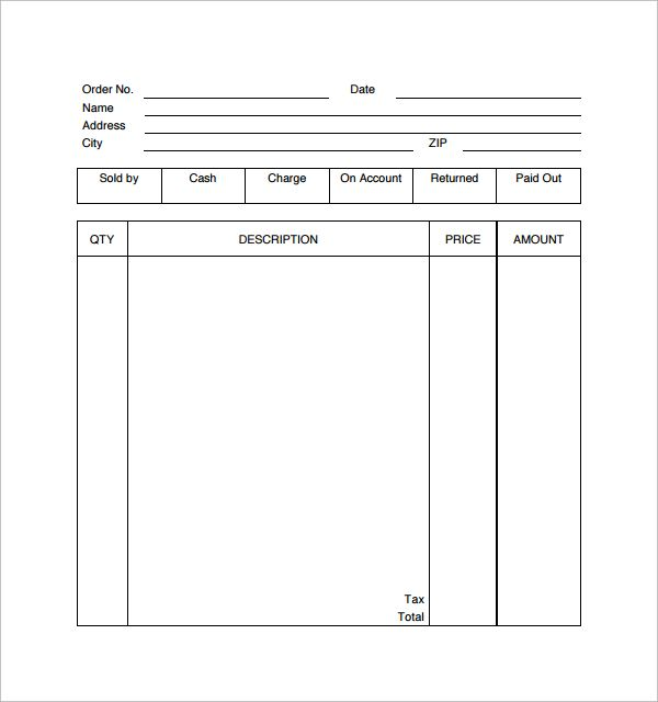 Sample Receipt Template 16 Free Documents In Pdf Word Excel Receipt Template Templates Words