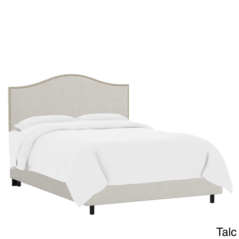 Skyline Furniture Custom Nailhead Trim Linen Upholstered Bed ...