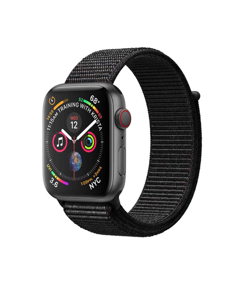 Apple Watch Space Gray Aluminum Case With Black Sport Loop Apple Buy Apple Watch Apple Watch Apple Watch Series