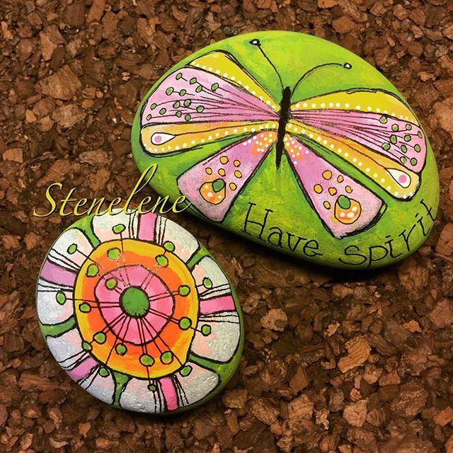 Have spirit #malpåsten#sten#stenelene#paintedstones#stones#spirit#justforfun#enjoylife