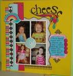 Cheese - scrapbook layout