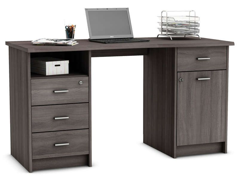 bureau 135 cm ch ne monaco vente de bureau conforama petit bureau bureau petit bureau. Black Bedroom Furniture Sets. Home Design Ideas