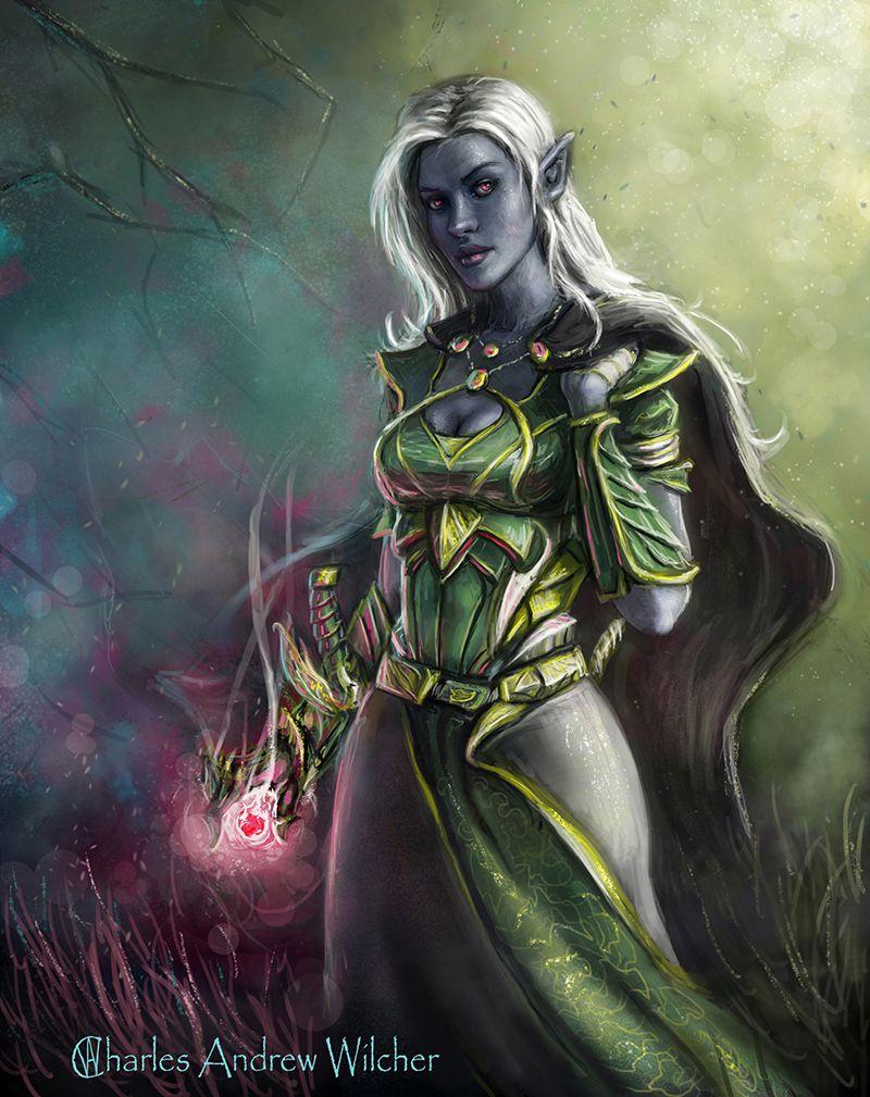 Akordia Dark Elf Combat Mage Dark Elf Elves Fantasy Warhammer Dark Elves