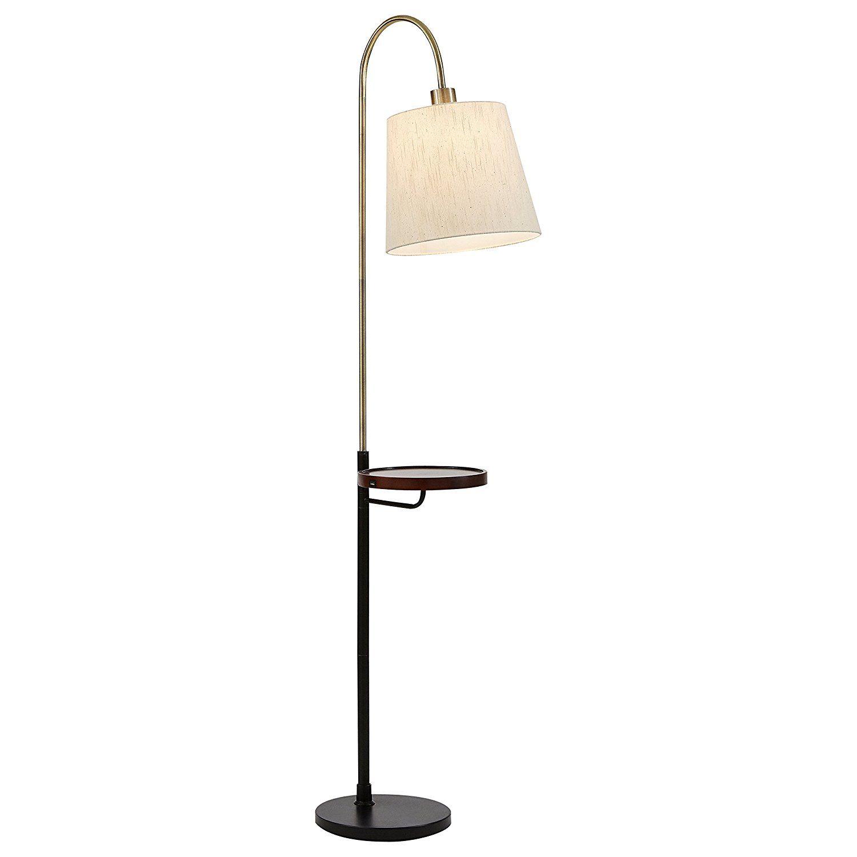 Rivet Franklin Shelf And Usb Charging Station Rivet Franklin Shelf Usbchargingstation Floor Lamp Floor Lamp With Shelves Cool Floor Lamps