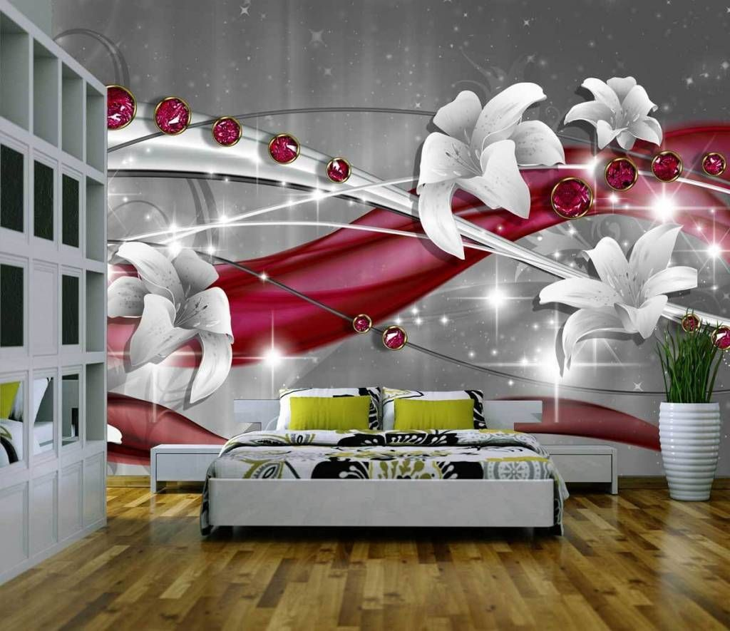 fototapete abstrakt diamant weiss rot tapete xxl wandbild vliestapete dekorationshop. Black Bedroom Furniture Sets. Home Design Ideas