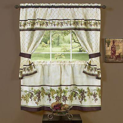 Tuscany 5-pc. Swag Tier Cottage Kitchen Curtain Set...Kohl\'s ...