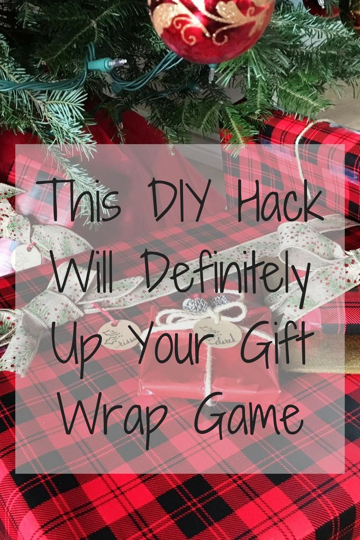 Christmas Life Hacks.Gift Wrap Hack Life Hack Diy Christmas Gift Wrapping