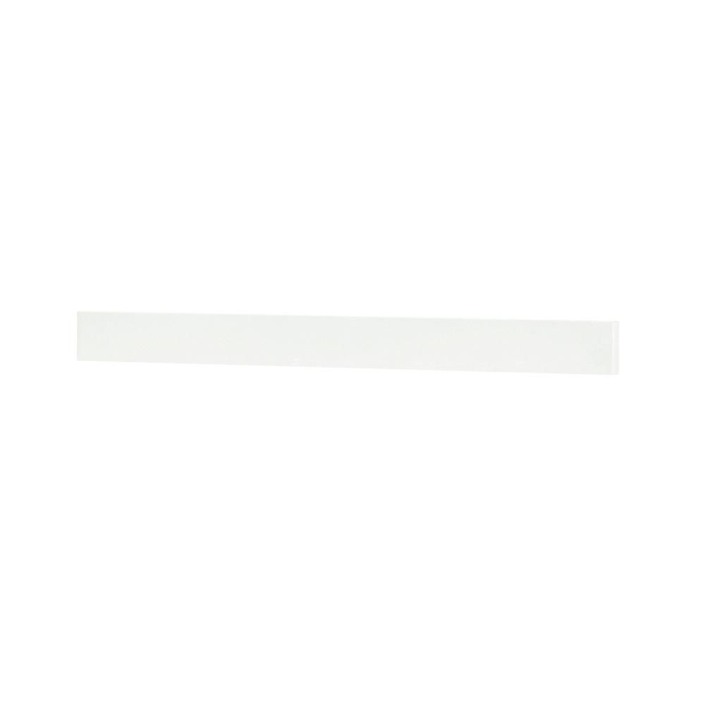 Home Decorators Collection Austell 37 in. Marble Backsplash in White-Austell BS-37YV #framesandborders