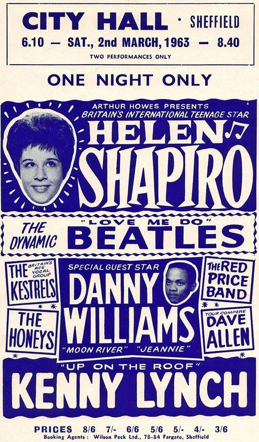 Bildresultat för The Beatles at the City Hall, Sheffield March 1963