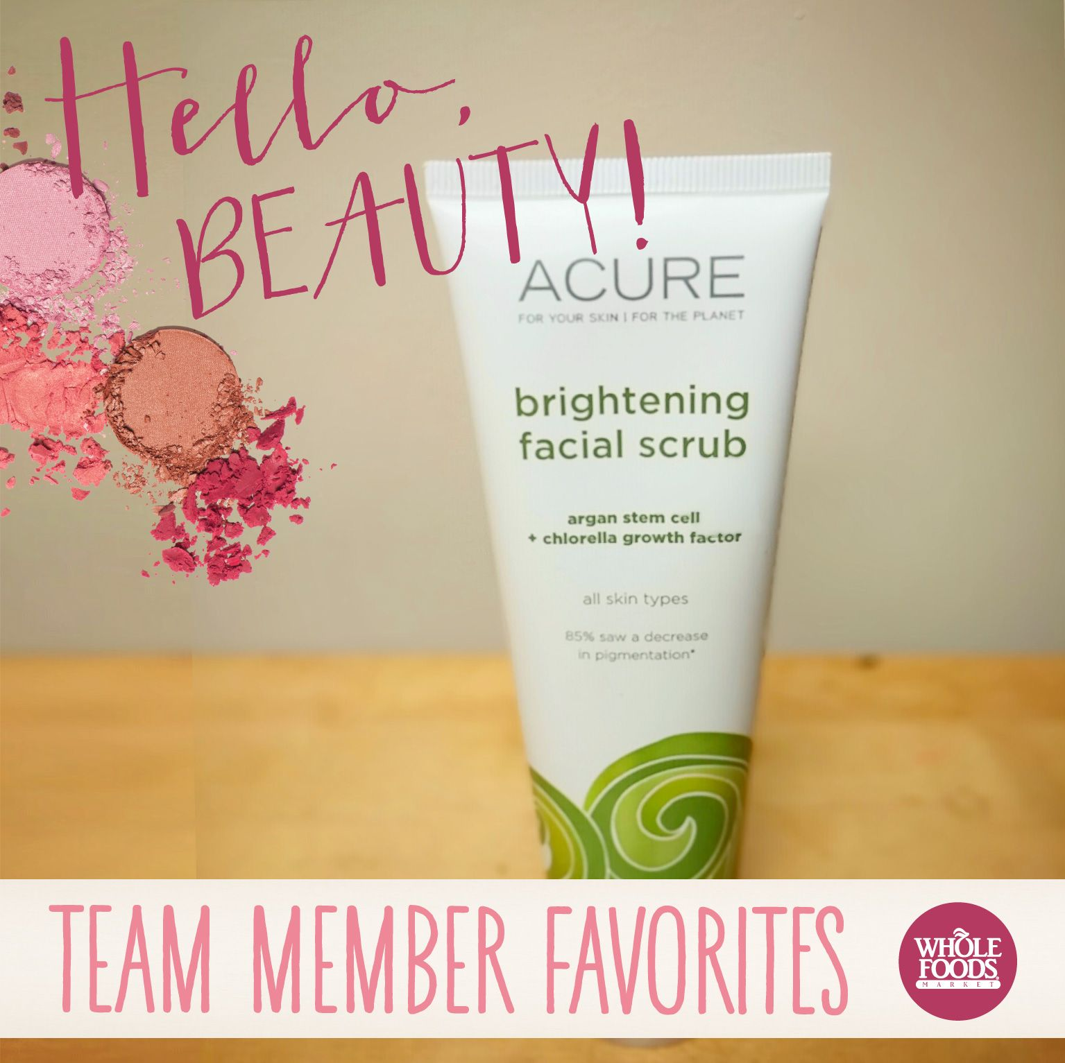 "::ACURE Brightening Scrub:: ""Uses Chlorella (it's Green"