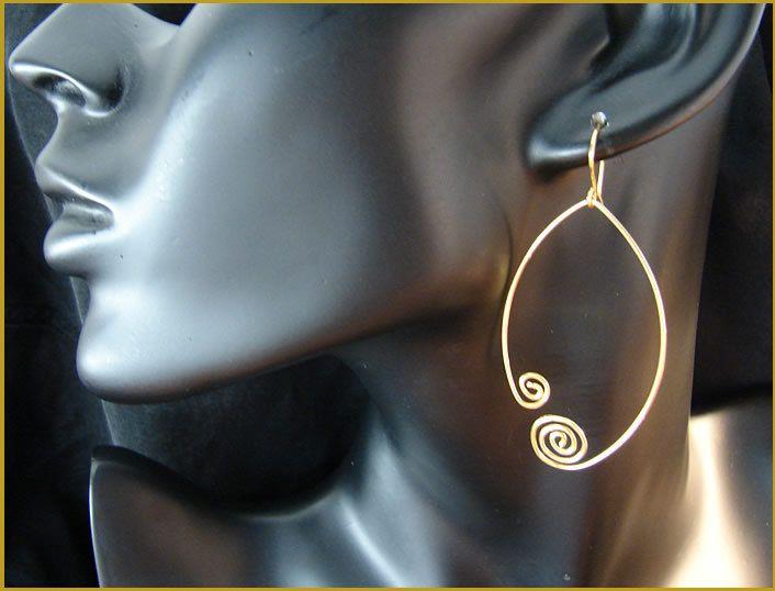 Pendientes colgantes - pendientes románticos Goldfill - hecho a mano por Romeo-und-Julia en DaWanda