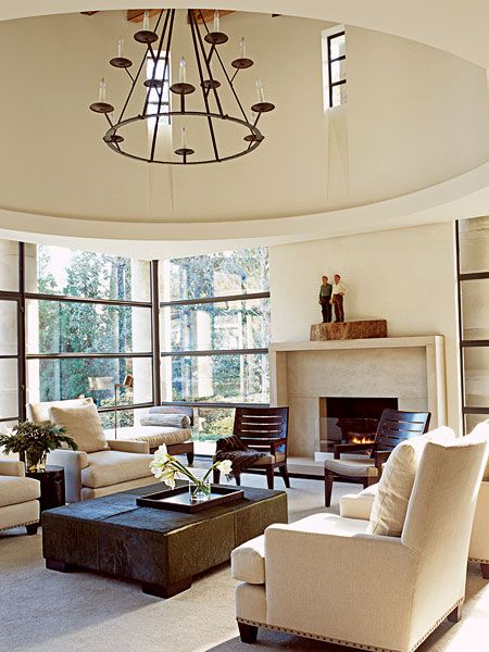 Beautiful Ceiling and chandelier | Beautiful Living Rooms ...