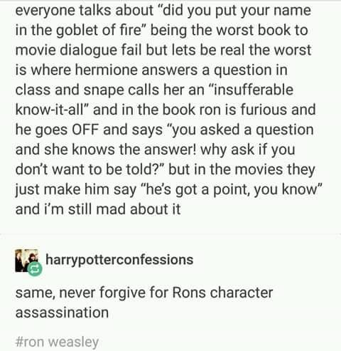 Movies Sorry The Old Ron Characterization Can T Come To The Phone Right Now Why Ca Harry Potter Universal Harry Potter Headcannons Harry Potter Obsession
