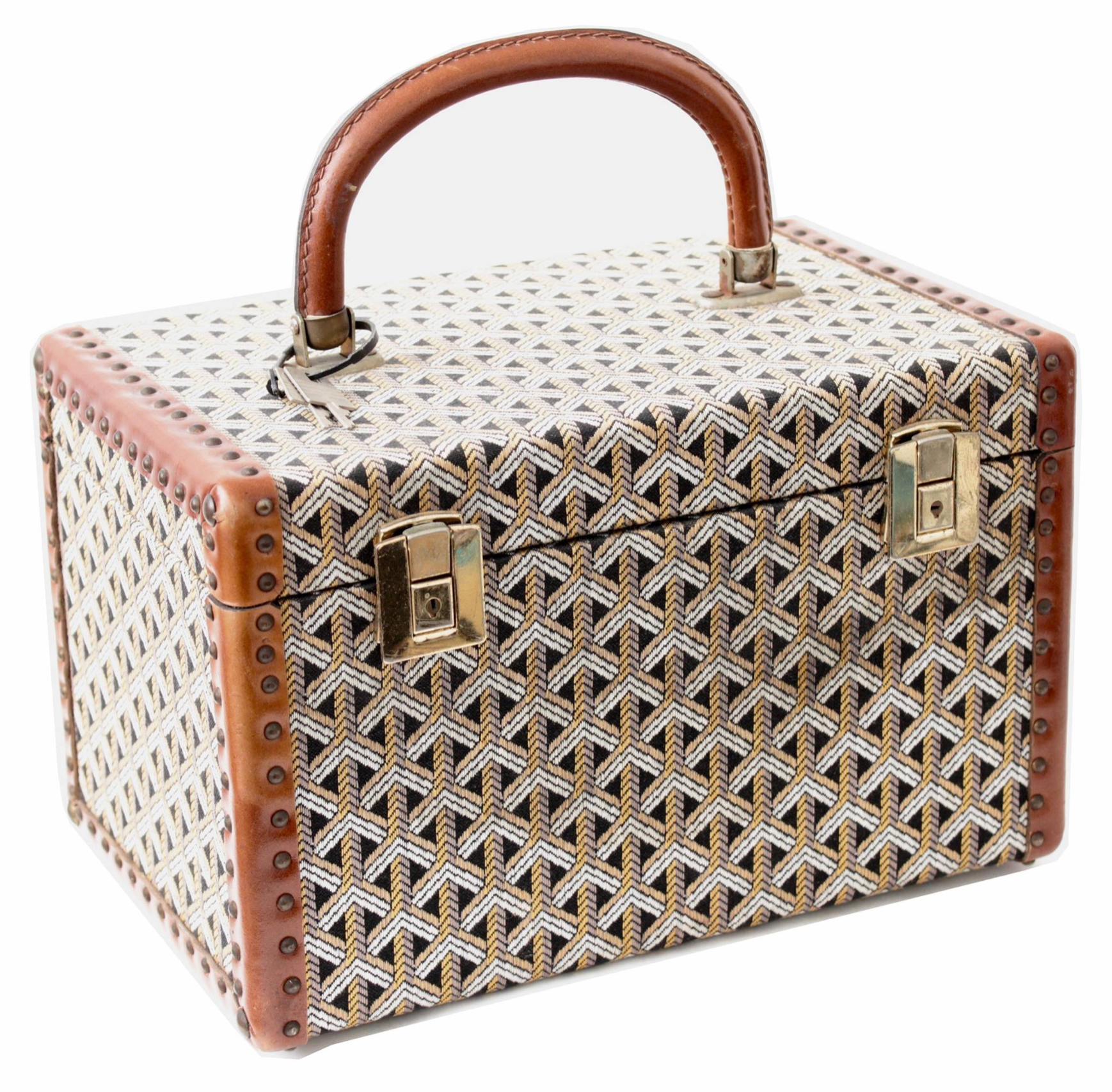 Tbt Goyard Train Case From The 50s Sold A While Back But Always Repost Worthy Vintage Goyard Traincases Luggage Style Beauty Bag Vintage Bags Goyard