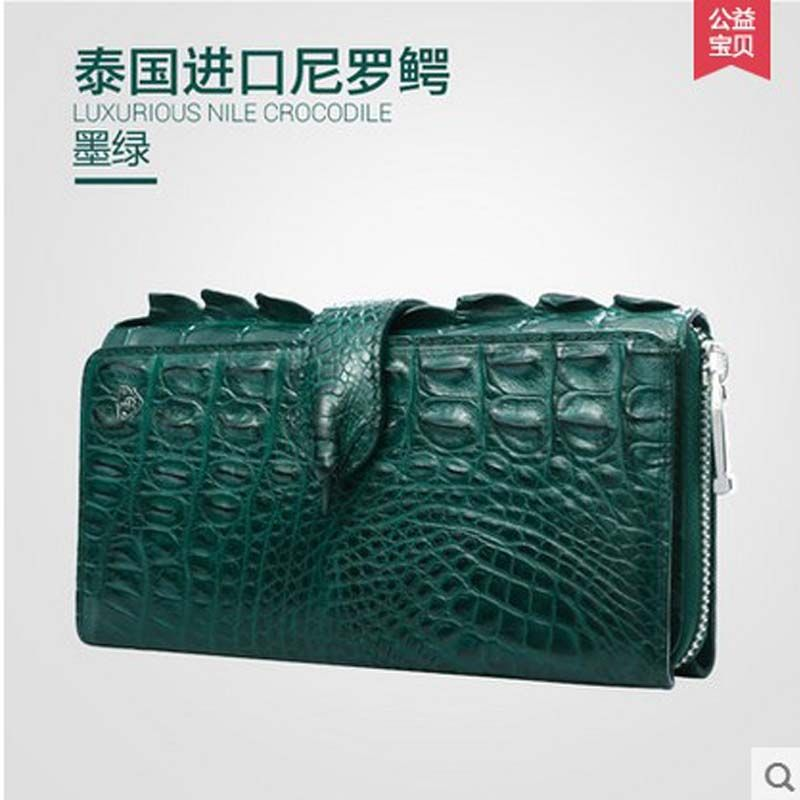 86b559a794 Gete new Thai crocodile leather women clutches really female fashion  evening bag long wallet leather hand bag //Price: $US $518.00 & FREE  Shipping //