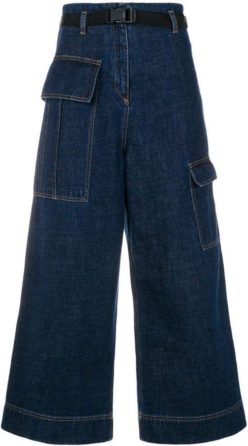 047f2073 Kenzo cropped wide-legged jeans Cropped Wide Leg Jeans, Kenzo, Blue Jeans,