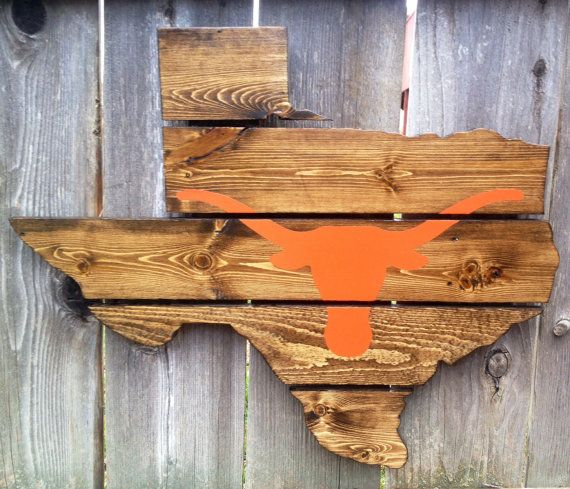 Wooden Texas Recycled Pallet Sign By Rusticrestyle On Etsy: Recycled+Pallet+University+of+Texas+Longhorns+by