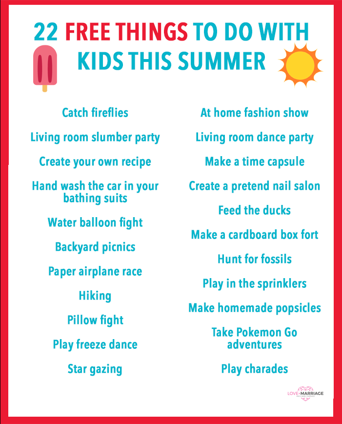 22 Free Things To Do With Kids This Summer