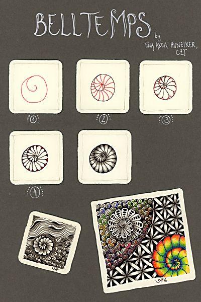Belltemps Zentangle Muster Zentangle Zendoodle Muster