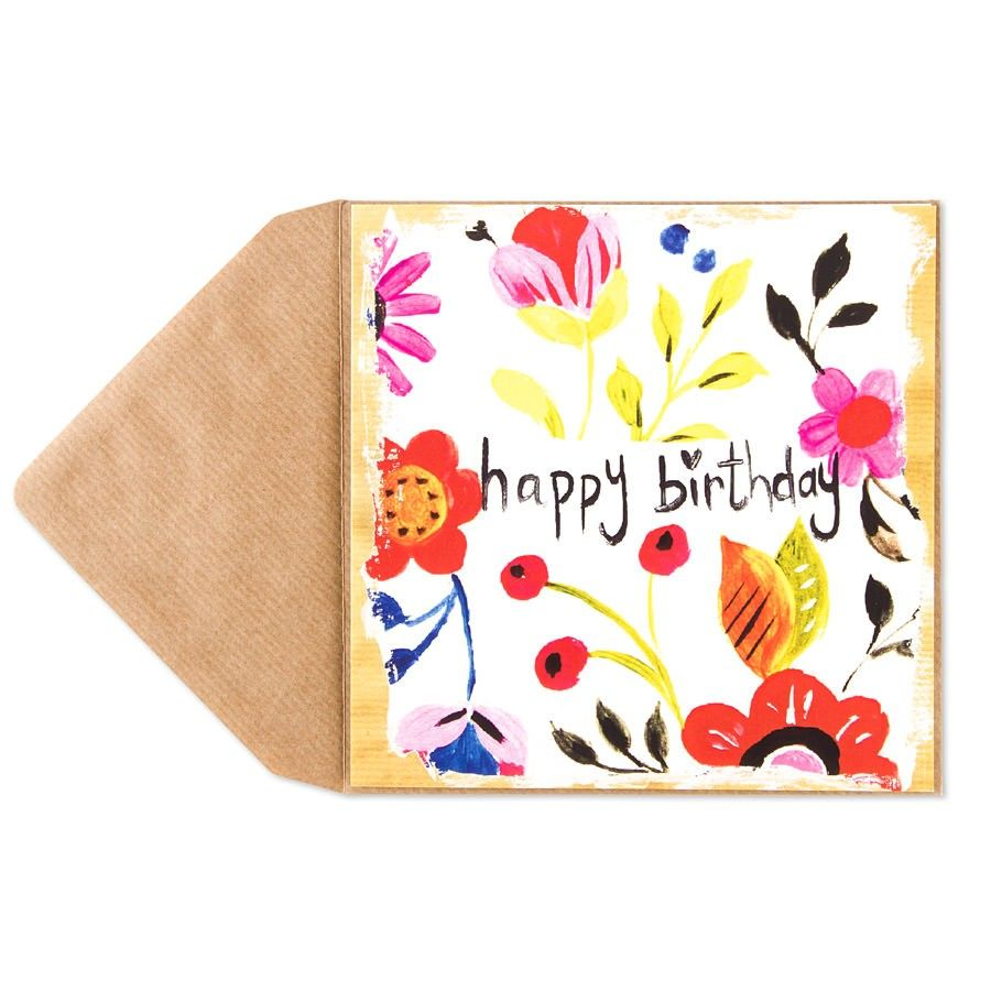 Happy Birthday Floral Card Happy Birthday
