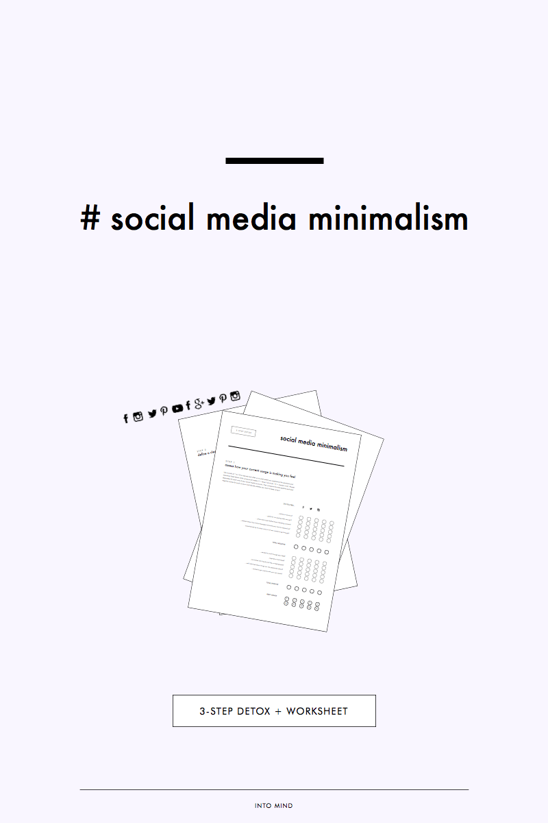 Social Media Minimalism: 3-Step Detox (incl. Worksheet) (Anuschka ...