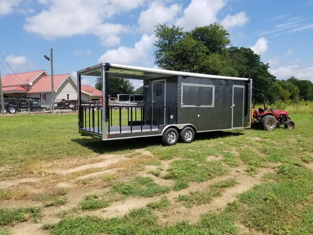26 Ft Bbq Porch Conversion Trailer Best Trailers Concession Trailer Trailer