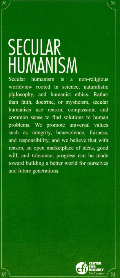 002 Secular Humanism in a nutshell Secular humanism