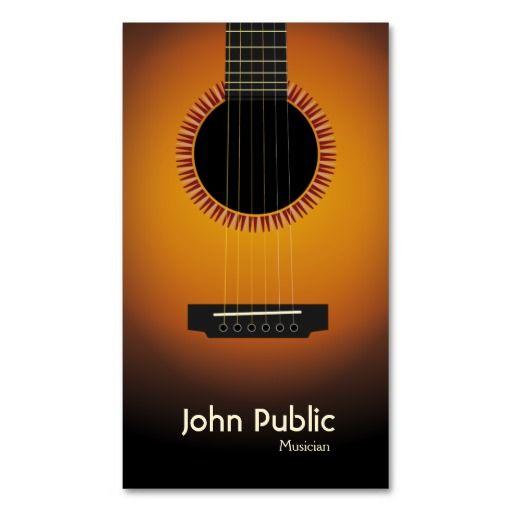 Modern Elegant Guitar Musician Business Card Zazzle Com Musician Business Card Printing Business Cards Business Card Musician