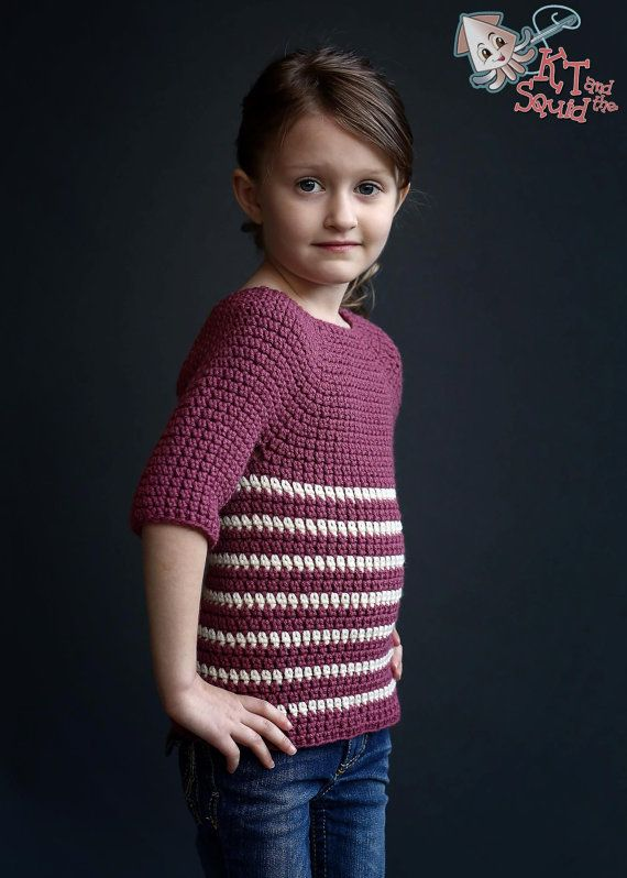Crochet pattern, girls crochet top pattern, Girls sweater, ok to ...