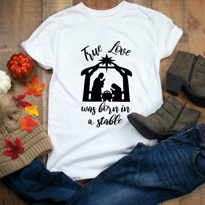 Download True love was born in a stable svg, Christmas by ...