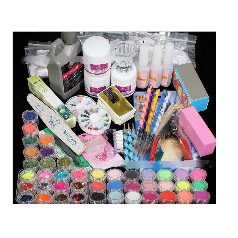 56.63 Buy here Nail Art Salon Supplies Kit Tool UV Gel