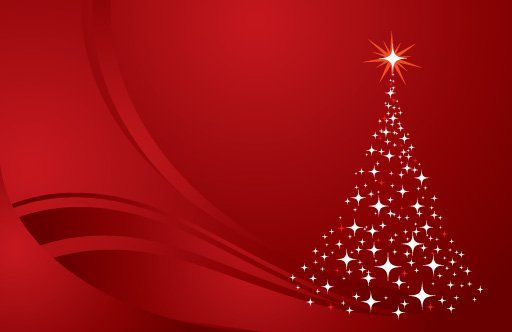 Christmas Tree Background Red Vector Graphic Twinkling Christmas Tree Background Red Christmas Background Christmas Images Free