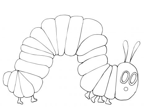 very hungry caterpillar coloring page super coloring
