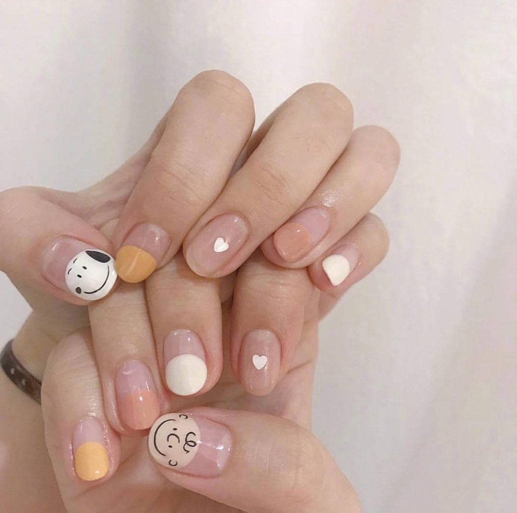 45 Gorgeous Nail Art Designs Ideas For Short Nails #koreannailart