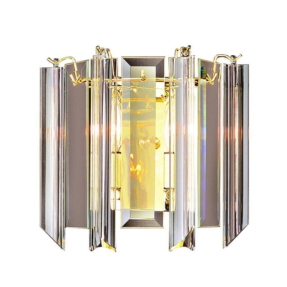 Bel Air Lighting Stewart 2-Light Polished Brass Incandescent Sconce