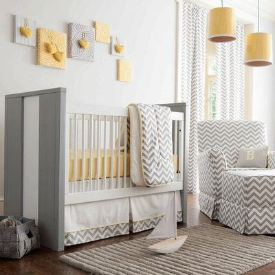 Yellow And Grey Nursery Grey Baby Room
